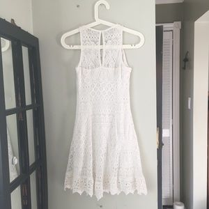 HOLLISTER White Lace Partially lined Dress